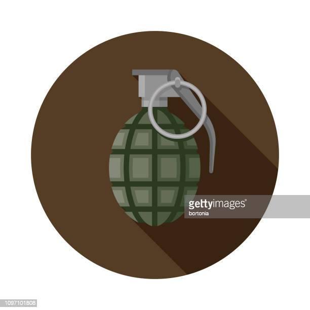 granate militärische symbol - bombenanschlag stock-grafiken, -clipart, -cartoons und -symbole