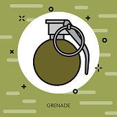 Grenade Military Icon