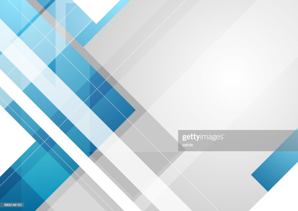 Grey and blue tech geometric background