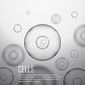 Grey cell background.  Vector illustration