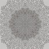 Grey Circle Lace Ornament