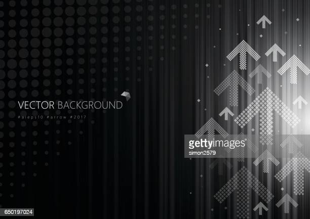 Grey color background with fading white direction arrow pattern