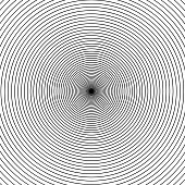 Grey concentric rings. Epicenter theme. Simple flat vector illustration