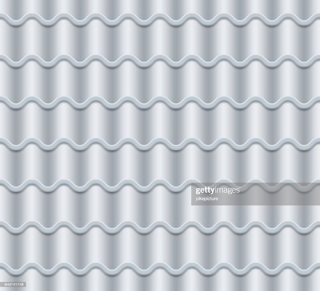 Grey Corrugated Tile Vector Seamless Pattern Classic Ceramic Tiles