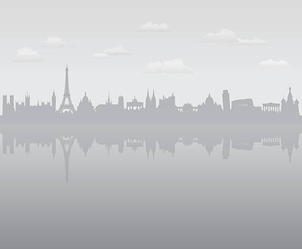 Grey Europe Wall Art