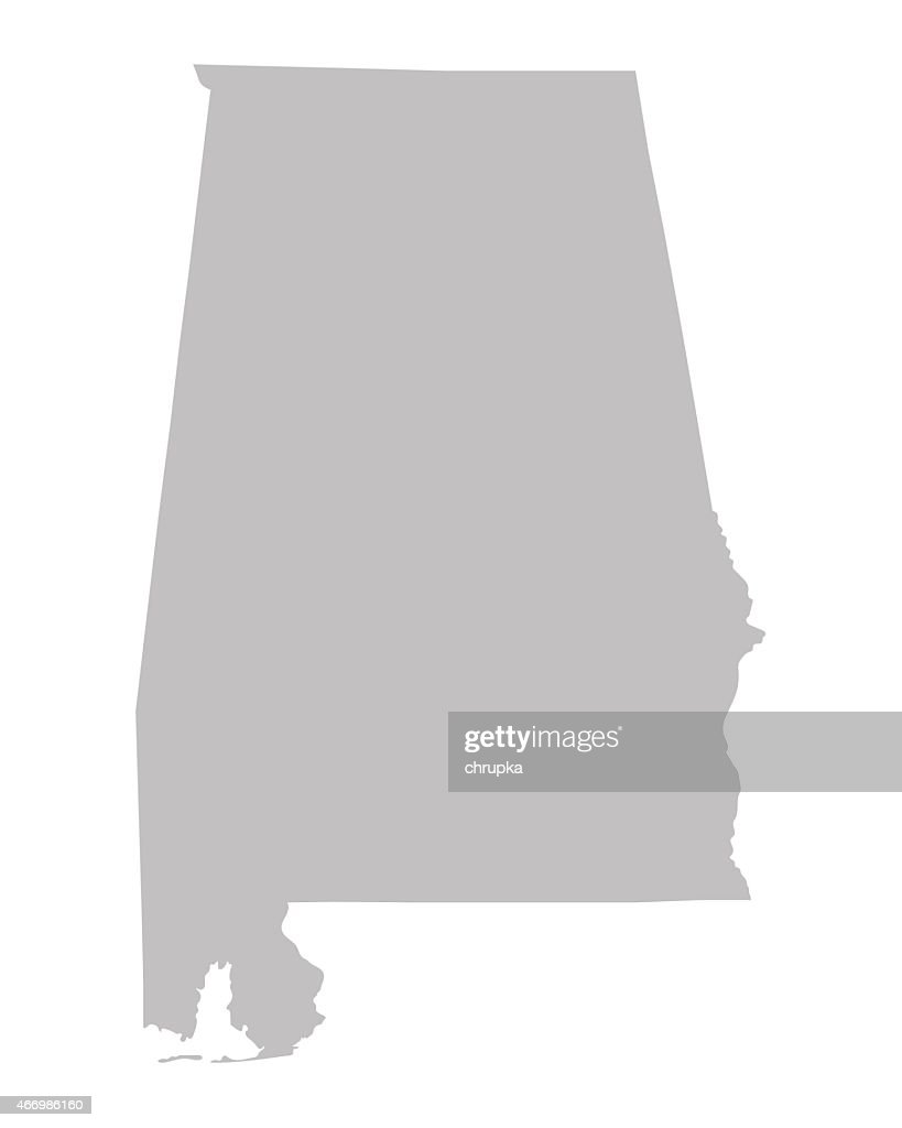 grey map of Alabama