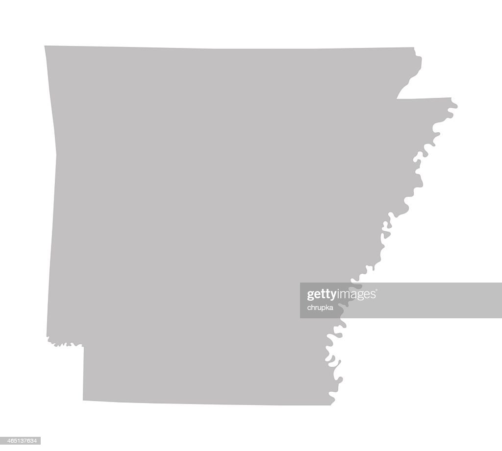 grey map of Arkansas