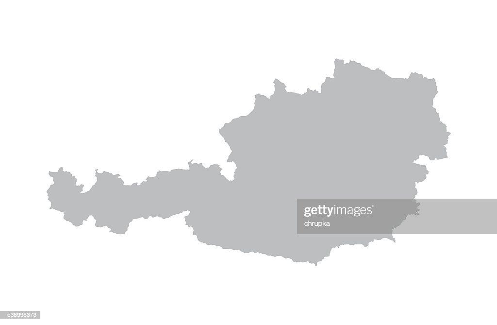 grey map of Austria