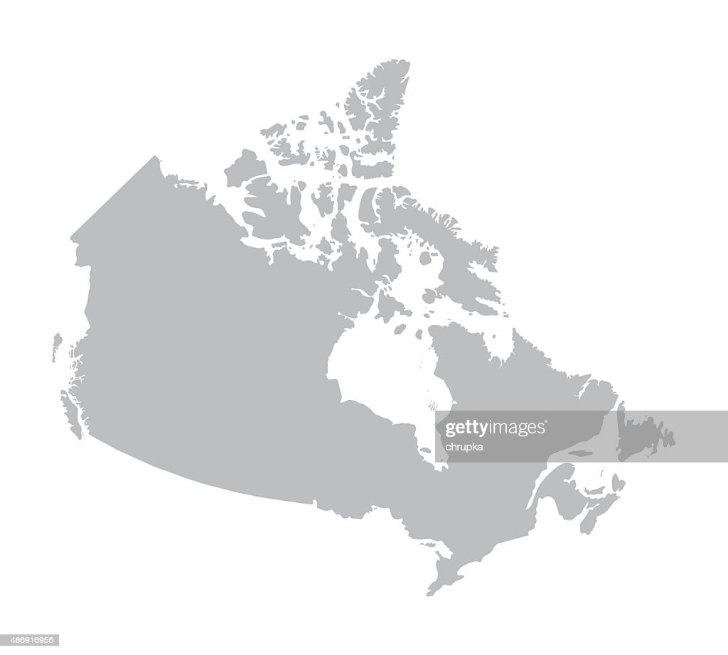 grey map of Canada