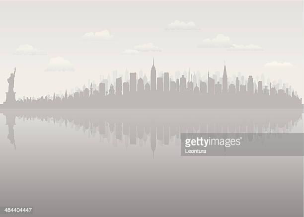grey new york (complete, moveable, detailed buildings) - empire state building stock illustrations, clip art, cartoons, & icons