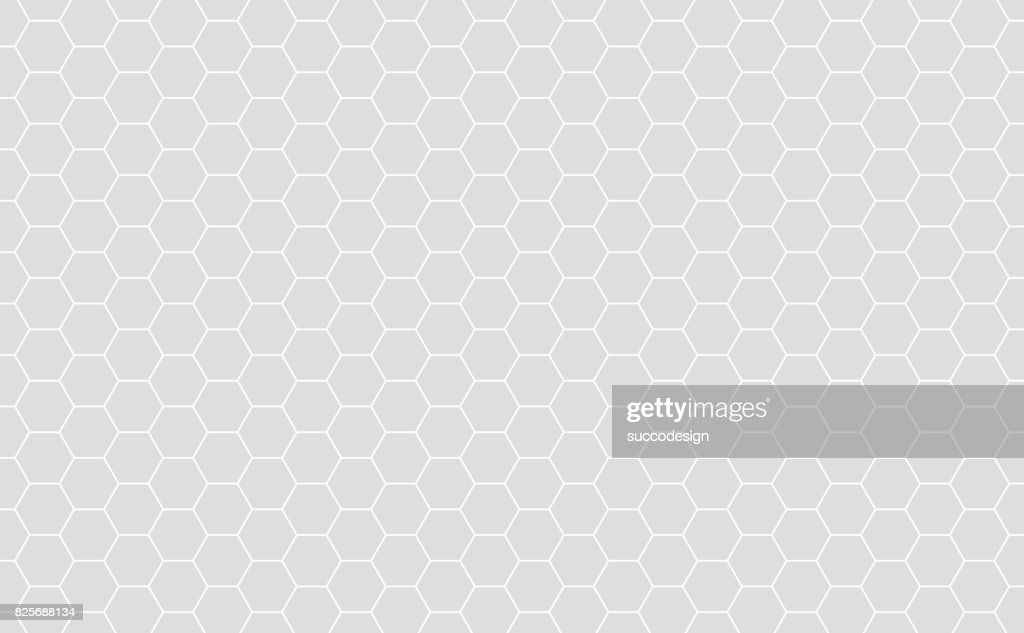 Grey Orange Geometric background with Hexagons