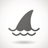Grey shark icon