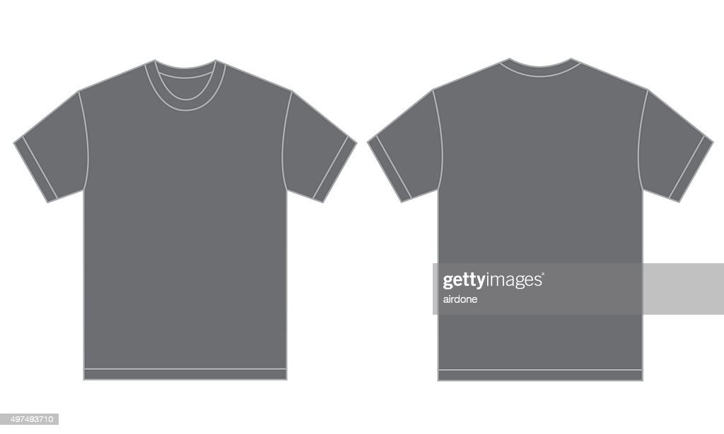 Grey Shirt Design Template For Men
