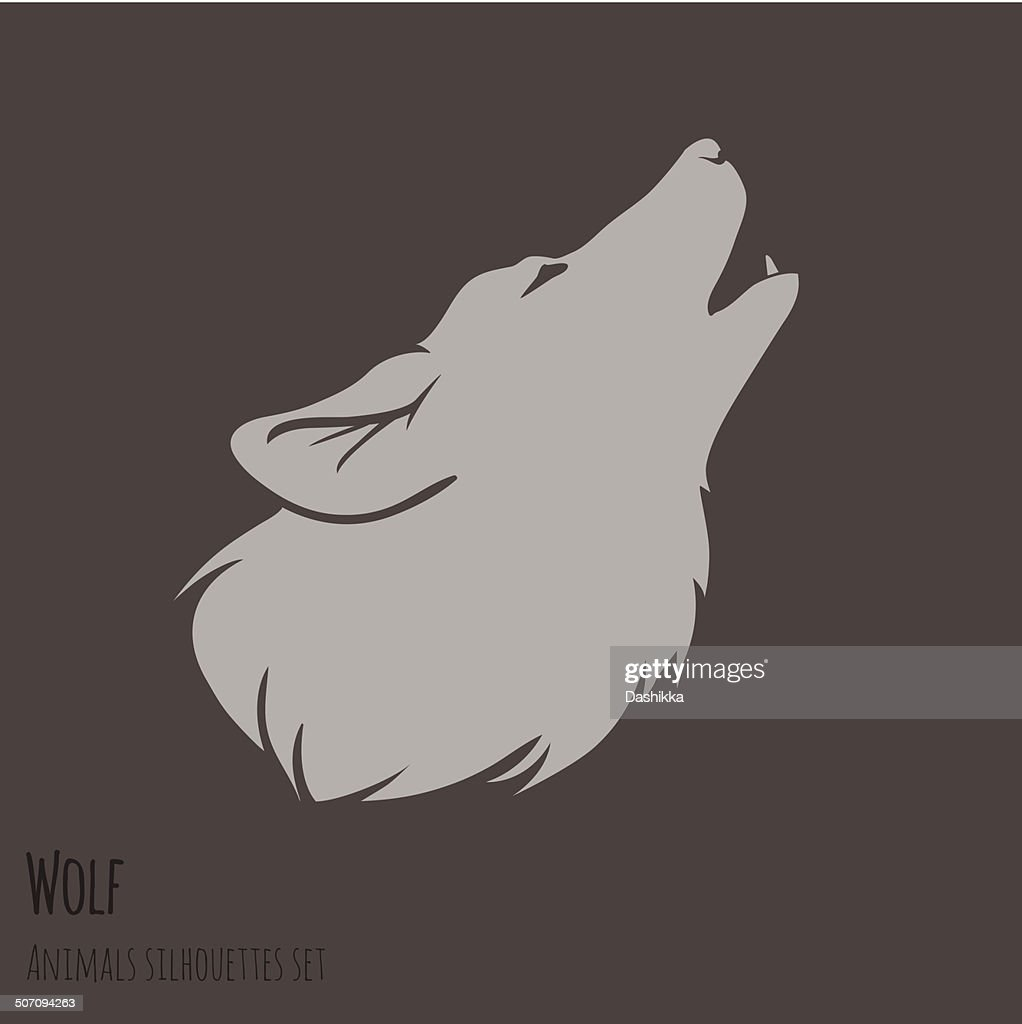 Grey Wolf Silhouette