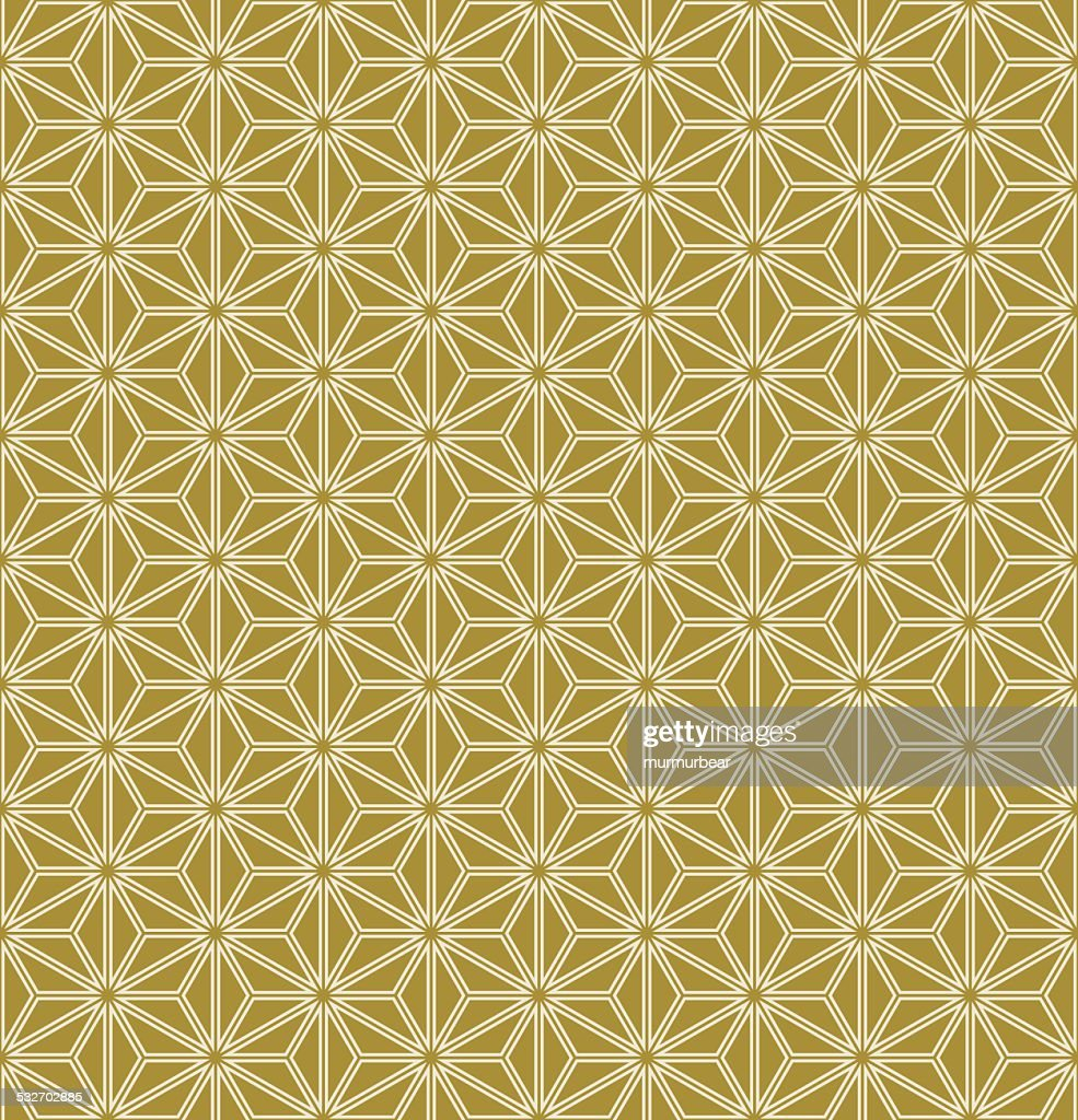 grid background of gold triangles