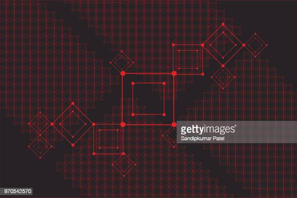 grid for futuristic hud interface. line technology vector pattern - interactivity stock illustrations, clip art, cartoons, & icons