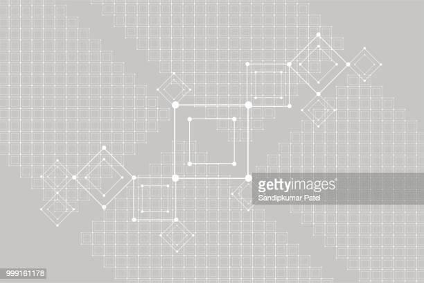 raster für futuristische hud-interface. linienmuster technologie vektor - berührungsbildschirm stock-grafiken, -clipart, -cartoons und -symbole