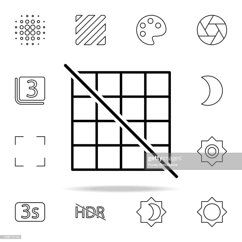 Grid off sign icon. Image icons universal set for web and mobile