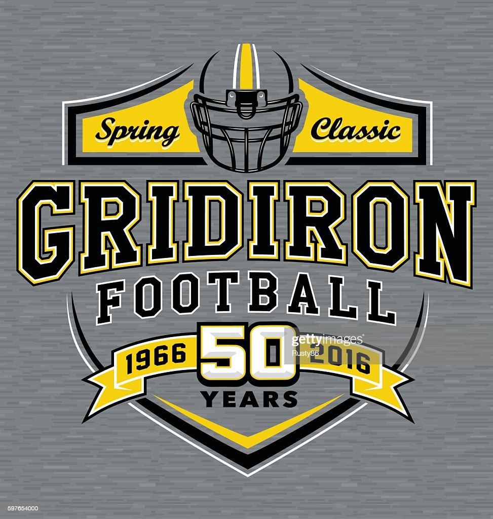 Gridiron football t-shirt graphic design