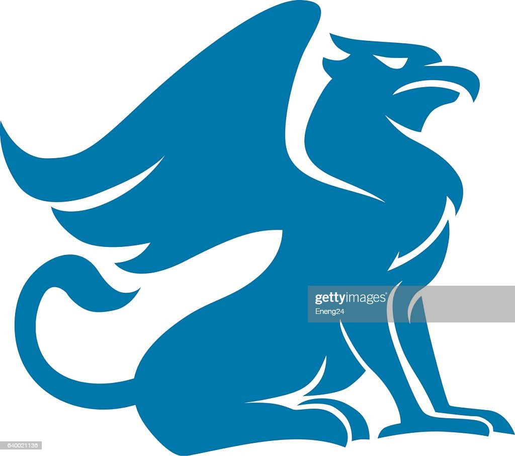 Griffin blue silhouette
