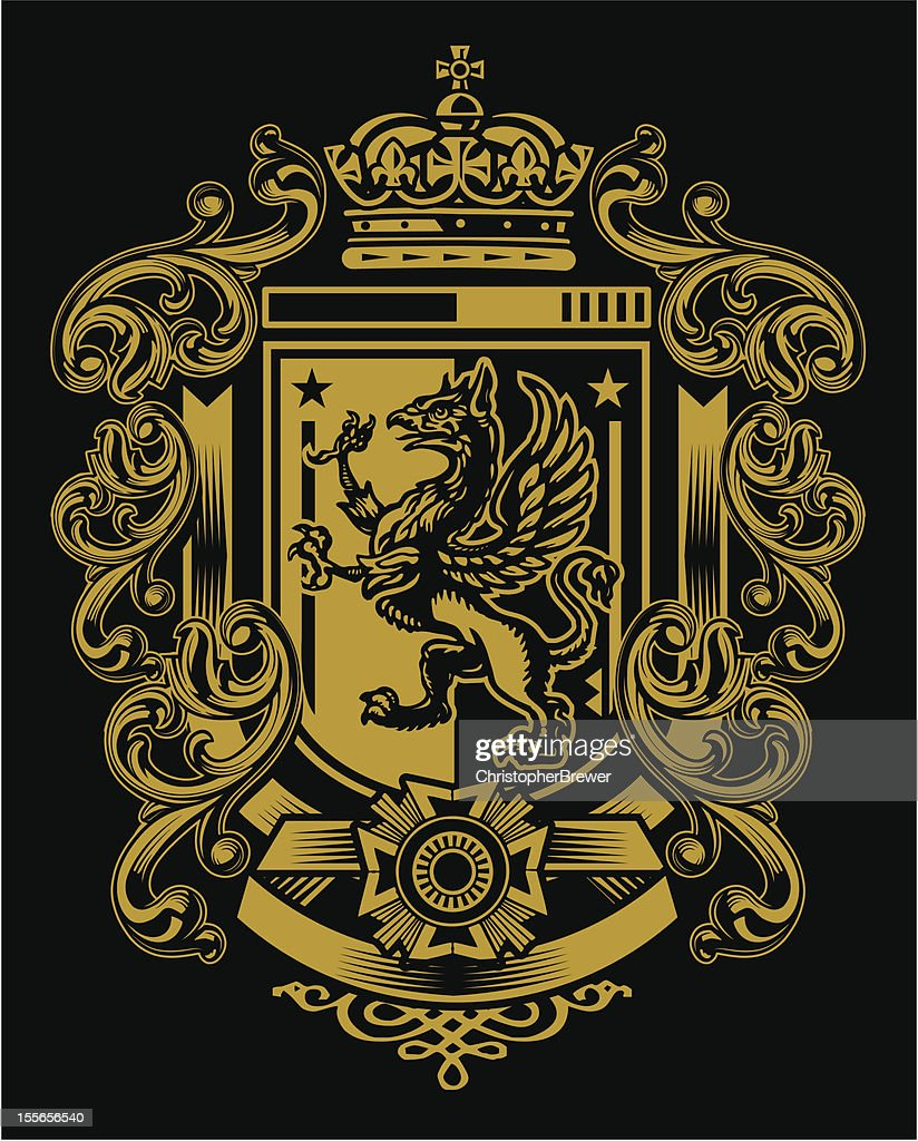 Griffin Flourish Crest