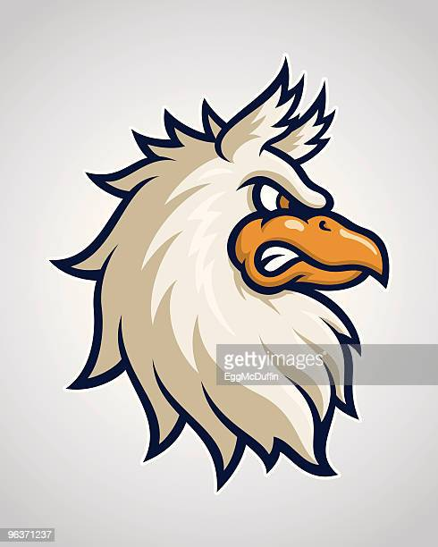 griffin head mascot - griffin stock illustrations, clip art, cartoons, & icons