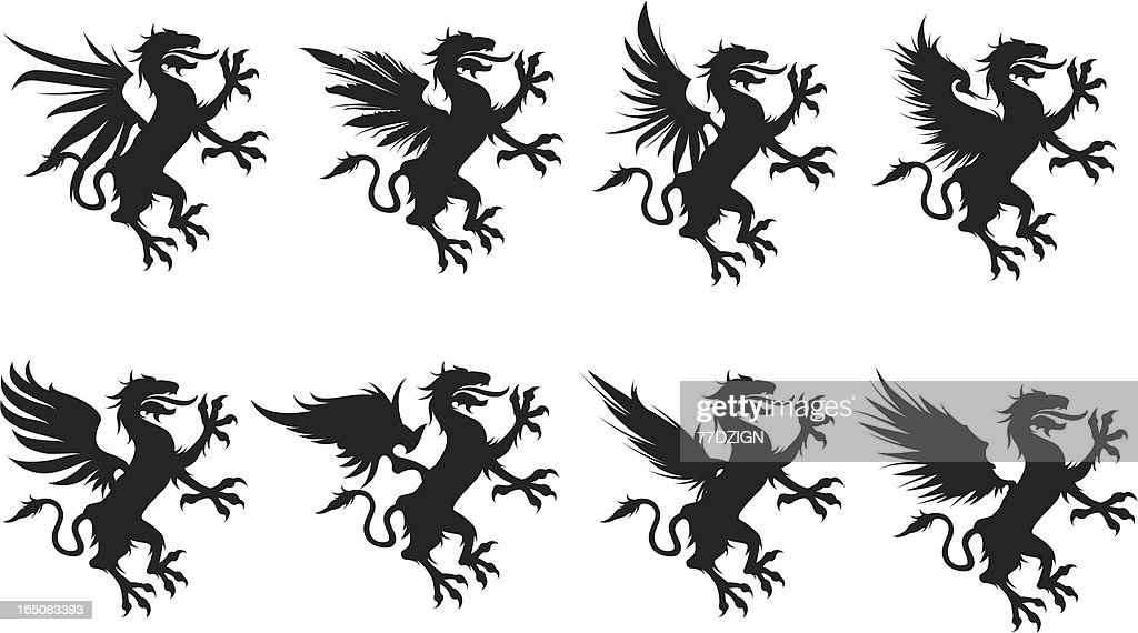 griffin wing set : stock illustration