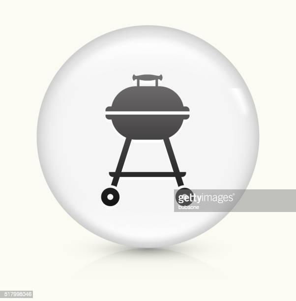 ilustraciones, imágenes clip art, dibujos animados e iconos de stock de parrilla icono sobre blanco, vector de redondo botón - al vapor