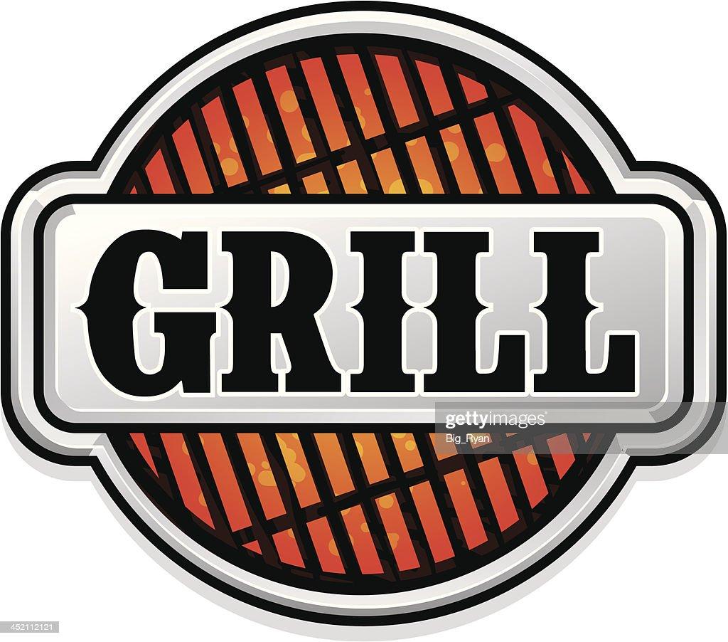 grill logo : stock illustration