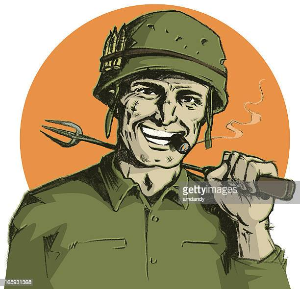 Grill Sergeant with Cigar