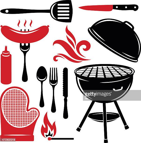 grilling elements - dessert topping stock illustrations, clip art, cartoons, & icons