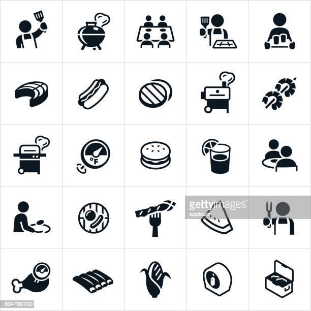 ilustraciones, imágenes clip art, dibujos animados e iconos de stock de asar los iconos - mesa de comedor