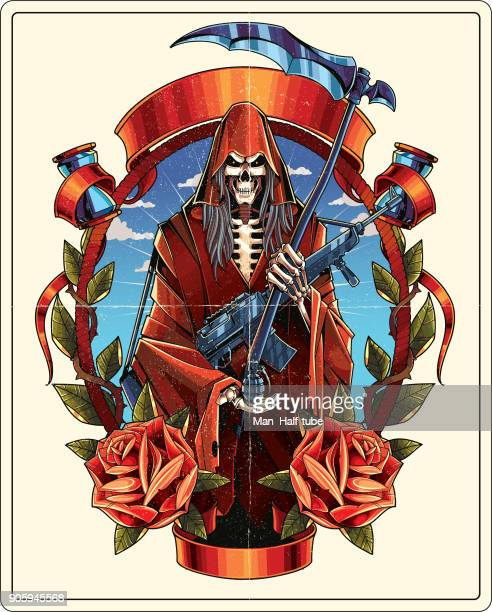 grim reaper - motorcycle rider stock illustrations, clip art, cartoons, & icons