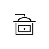 Grinder line icon