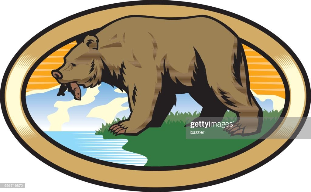 grizzly bear at the nature