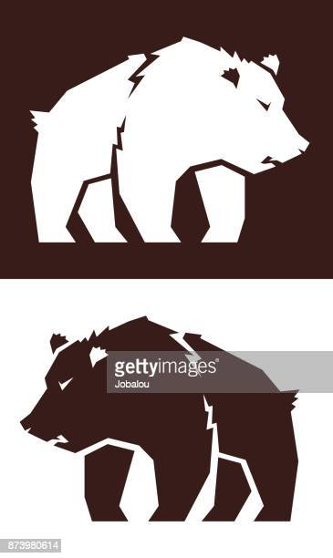 grizzly bear clip art - cartoon characters with big teeth stock illustrations