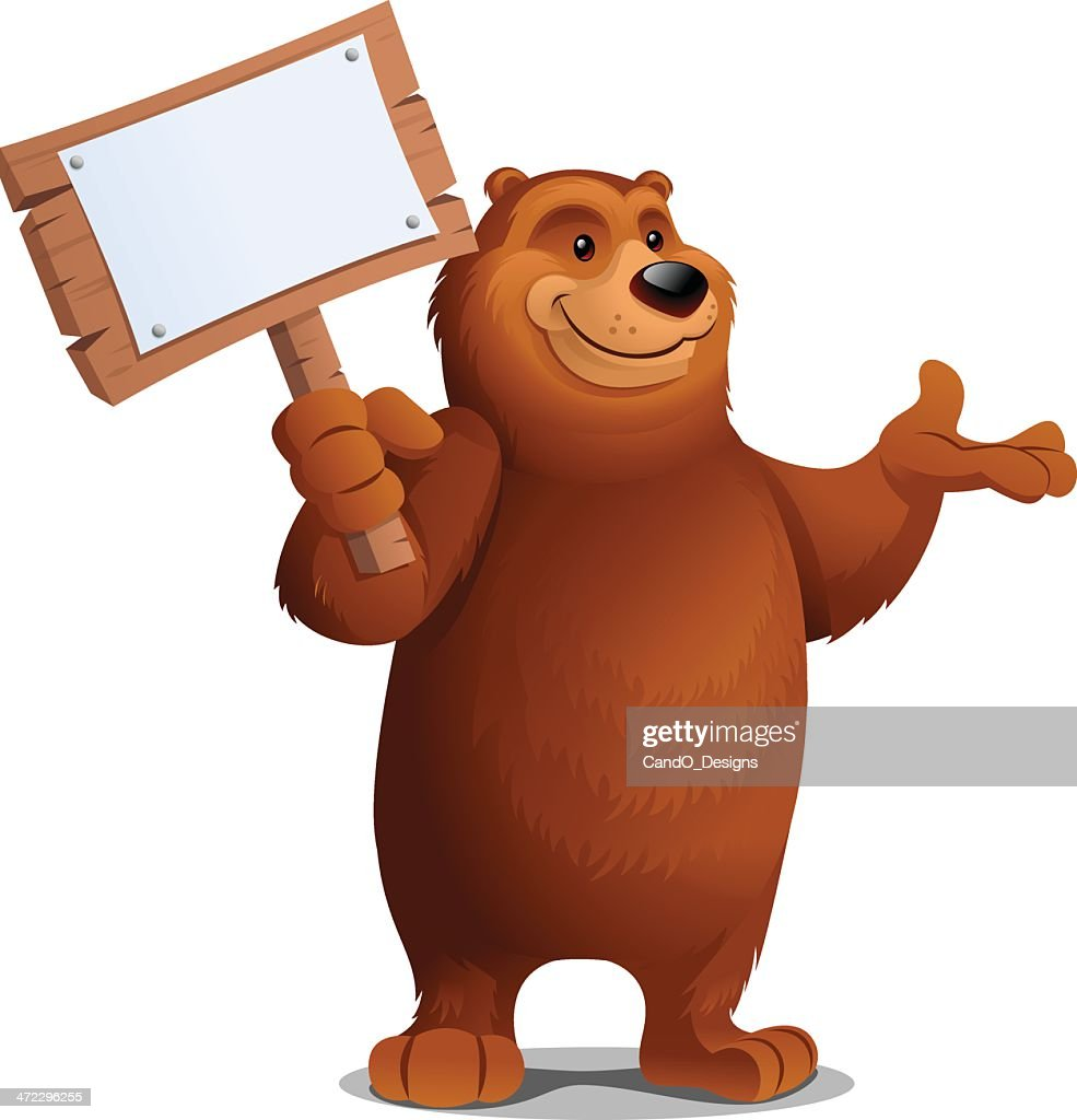 Grizzly Bear: Holding Sign