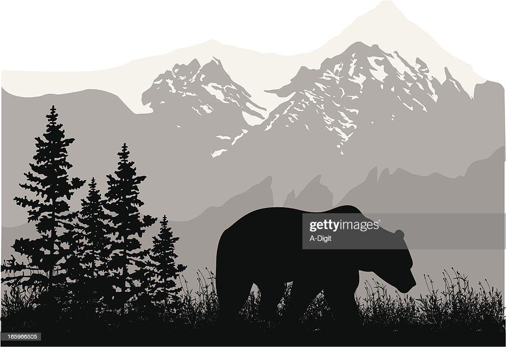GrizzlyMountains : Ilustración de stock