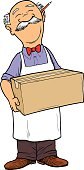 Grocer holding a Box
