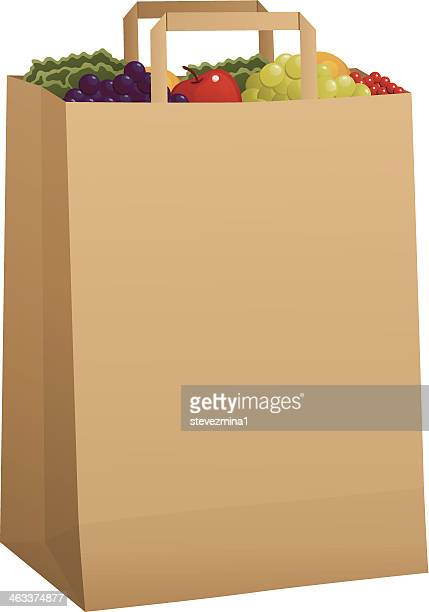 食料品のバッグを生成 - 布の袋点のイラスト素材/クリップアート素材/マンガ素材/アイコン素材