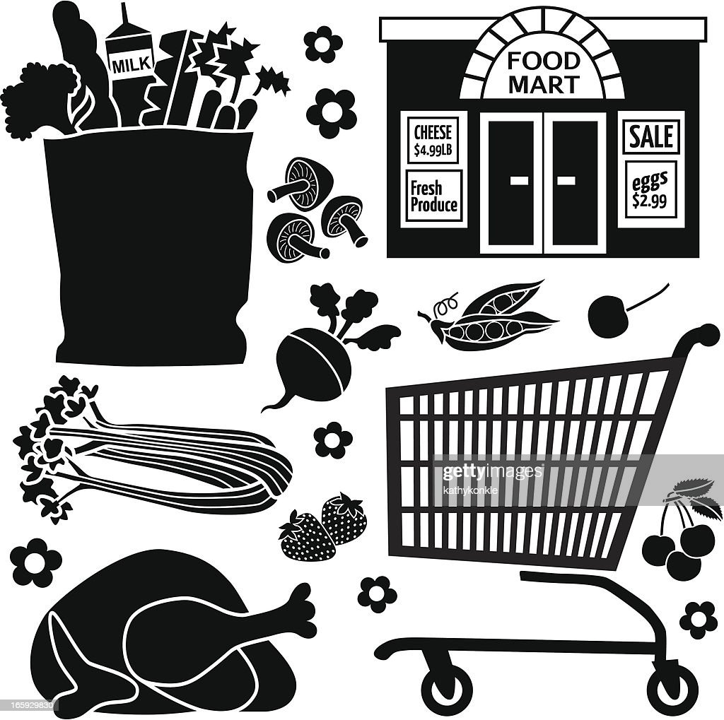 Grocery Store Icons Vector Art | Getty Images Grocery Store Logos Free