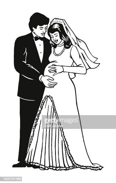 Groom and Pregnant Bride