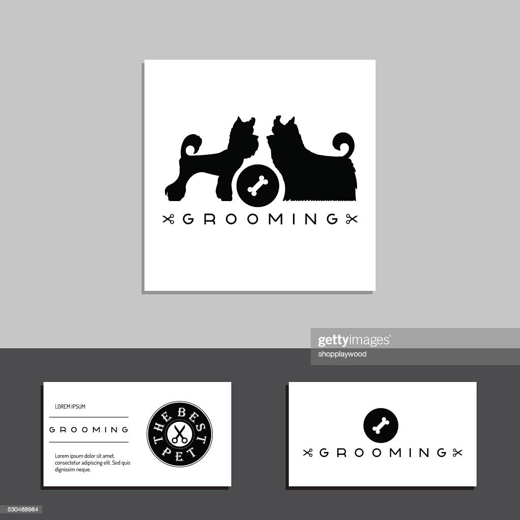 grooming dog card