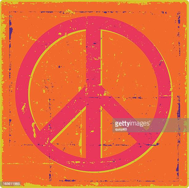 groovy grunge peace symbol - peace stock illustrations, clip art, cartoons, & icons