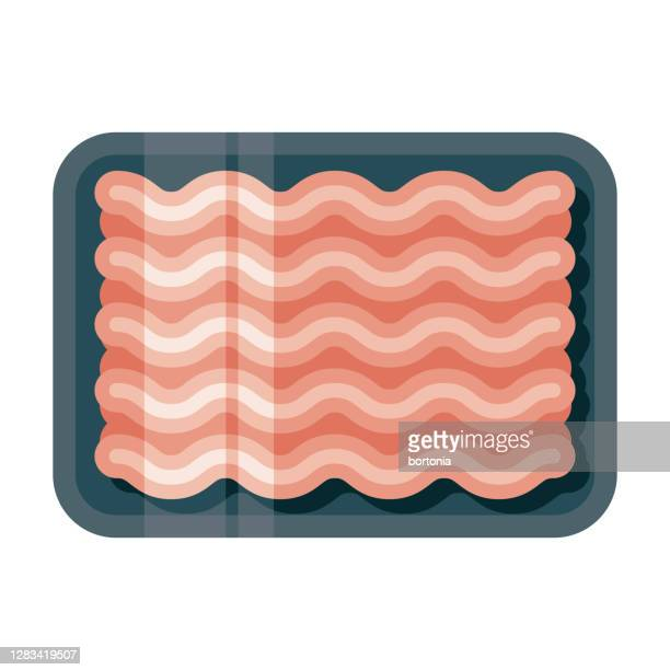 ground meat icon on transparent background - ground beef stock illustrations