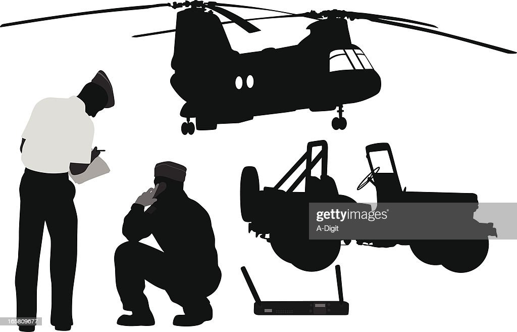 Ground To Air Vector Silhouette