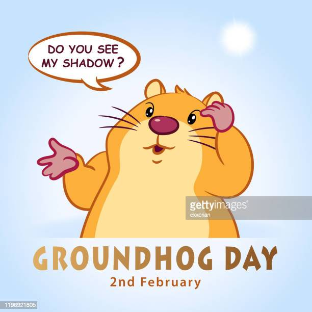 groundhog day shadow - groundhog day stock illustrations