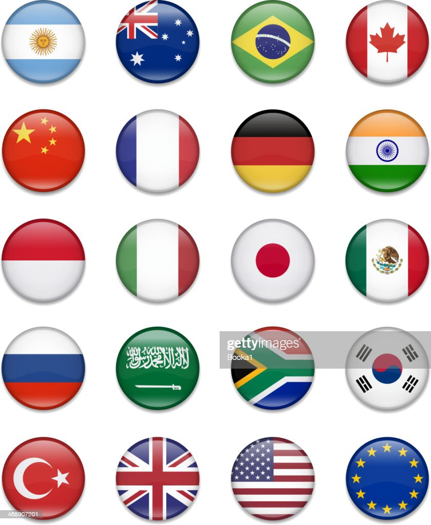 G-20 Group - Button Flag Collection