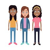 group girl daughter family