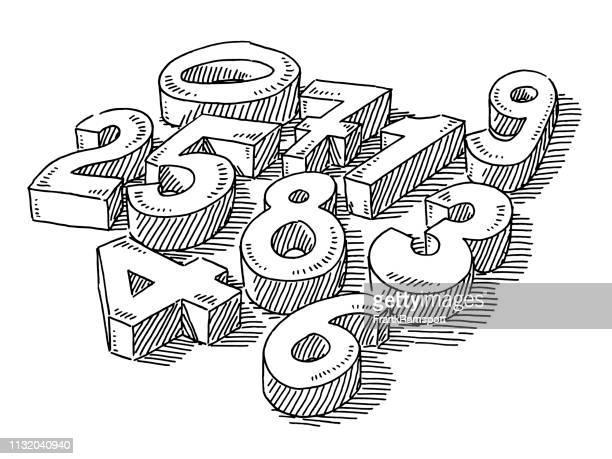 Gruppe der 3D-Zahlen ziehen